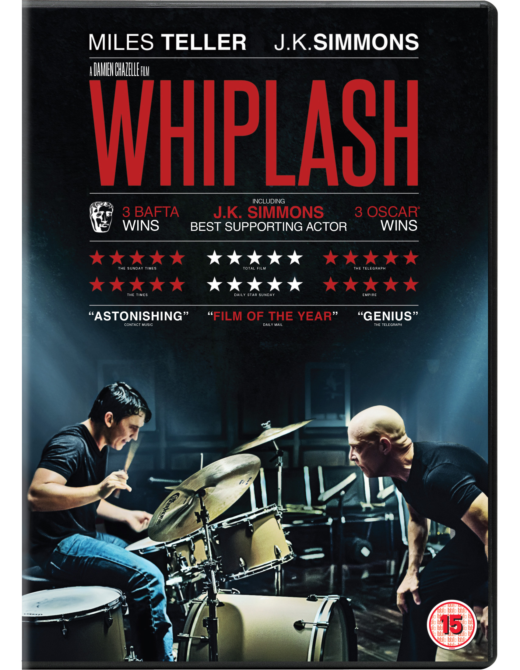 Miles Teller and J.K. Simmons in Whiplash - out on DVD June 1st (Picture: Sony)