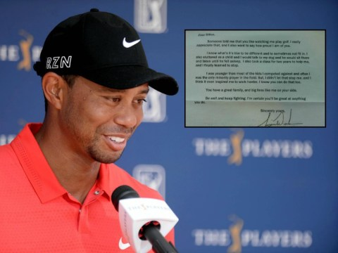 Tiger Woods writes heartfelt letter to young fan being bullied for speech impediment