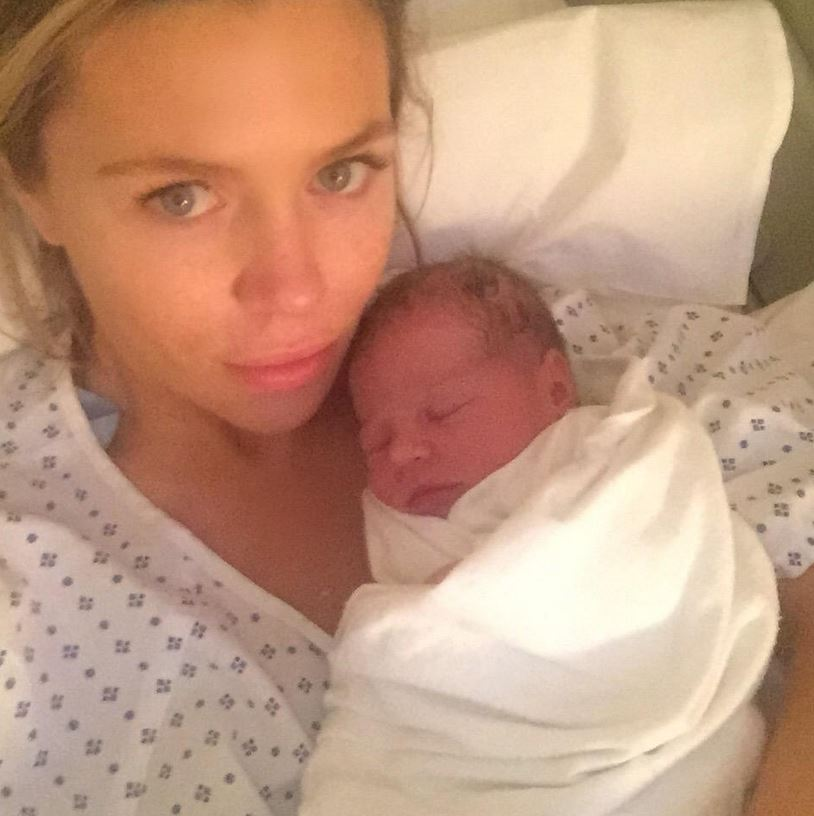 Abbey Clancy gives birth to second daughter Liberty Rose, calling her a 'perfect little princess'
