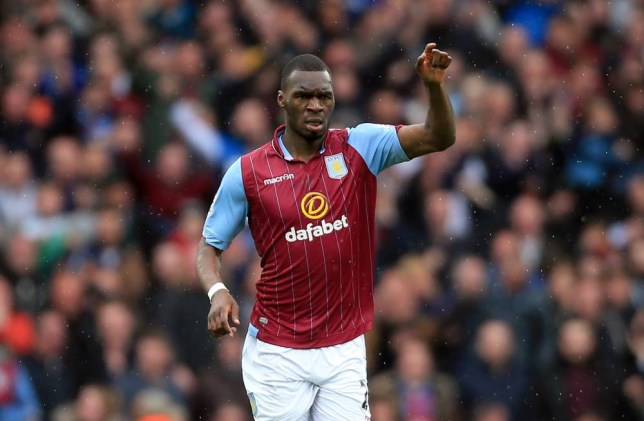 File photo dated 02-05-2015 of Aston Villa's Christian Benteke celebrating scoring. PRESS ASSOCIATION Photo. Issue date: Friday May 29, 2015. Tim Sherwood admits Aston Villa will be powerless to stop Christian Benteke leaving this summer - after revealing he has a buy-out clause in his contract. See PA story SOCCER Villa. Photo credit should read Nick Potts/PA Wire.