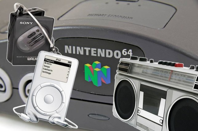 CW0JAH Close up of the Nintendo 64 or N64 video game console, a fifth generation video game console launched in 1996 in Japa