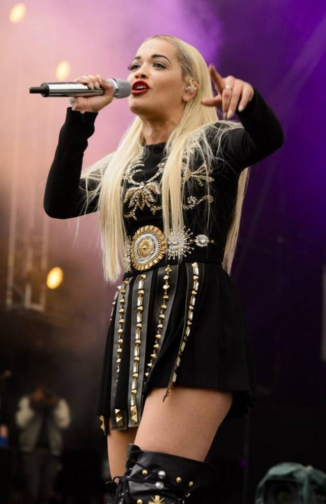 Mandatory Credit: Photo by Jonathan Hordle/REX_Shutterstock (4786708ak)  Rita Ora  BBC Radio 1 Big Weekend, Norwich, Britain - 24 May 2015