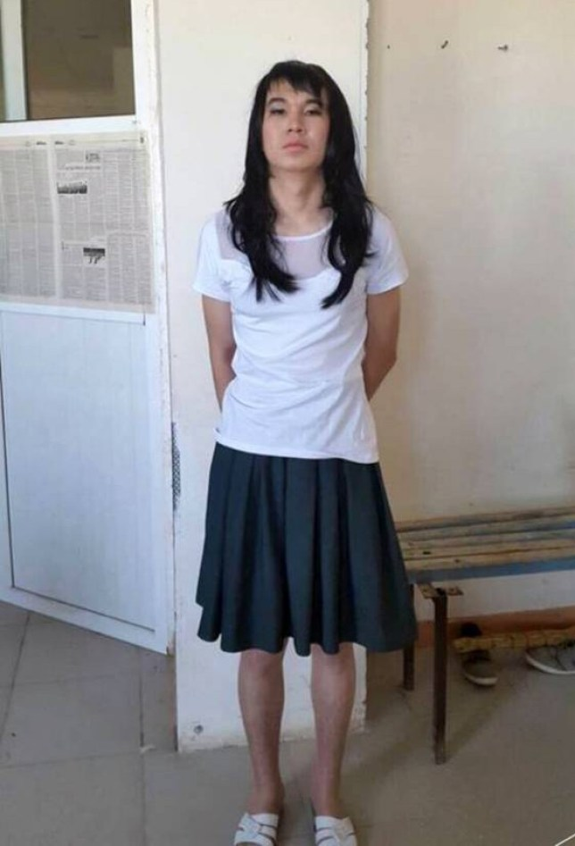 """Pic shows:  Ayan ZhardemovnnA student from Borat¿s homeland Kazakhstan has been dubbed """"romantic of the year"""" after dressing up as his girlfriend to take an exam for her.nnLoved-up Ayan Zhademov, 20, was desperate to help his 17-year-old girlfriend out when she told him she was worried about an upcoming exam.nnAfter trying to calm her down and failing he hatched his plan to impersonate her in the exam room and do the test for her.nnThe girl, who has not been named, was preparing to take her Unified National Testing, an exam in Kazakhstan which school students must take when finishing to get into university.nnDonning an old black wig, slapping on some makeup and squeezing into her white blouse and grey skirt, Zhademov then tried sneaking into the exam room in the town of Zhetisai in south Kazakhstan.nnBut eagle-eyed examiners spotted him, and thinking he looked too butch to be a girl, took him aside for questioning.nnA spokesman for the exam board said that as soon as he started talking their suspicions were confirmed.nn""""He tried speaking in a high voice but it was obvious this was a male,"""" the spokesman said.nnZhademov was then fined 1,400 GBP for his actions.nnBut now he has been dubbed romantic of the year by locals after a businessman stepped into help pay off the fine.nnFellow student Dariga Nesterova said: """"It was stupid but very romantic.nn""""Sometimes love leads us to do silly things, I wish my boyfriend was this romantic.""""nnAnother student, Goga Korzhova, said: """"She¿s lucky to have someone as brave as this, who will risk everything for her.""""nnBusinessman Olzhas Hudaibergenov who has agreed to pay half of the fine said he was delighted to see romance was still alive and well.nnHe added: """"I only hope that his romantic moves in the future will be more legal.""""nnThe girl was told she will have to nw wait until next year before taking the exam.nn(ends)"""