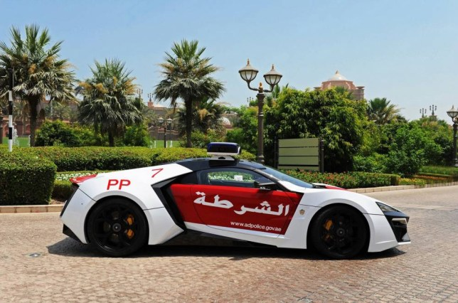 epa04787502 A handout picture made available by Abu Dhabi Police on 07 June 2015 shows the 3.4 million US Dollar Laykan Hypersport car which Abu Dhabi Police add it to its fleet of patrol cars in Gulf emirate of Abu Dhabi , United Arab Emirates.  EPA/ABU DHABI POLICE / HANDOUT  HANDOUT EDITORIAL USE ONLY/NO SALES