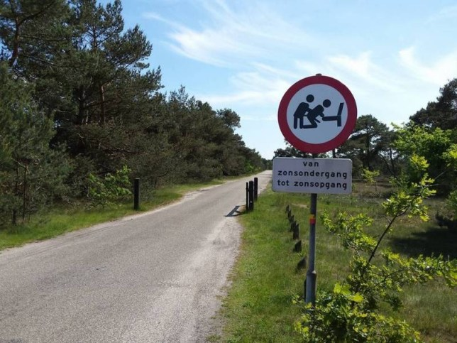 Headline: no dogging sign jasperzieboon imgur Caption: no dogging sign jasperzieboon imgur jasperzieboon http://www.reddit.com/r/pics/comments/38tezp/this_traffic_sign_that_prohibits_sex_between_dawn/ https://i.imgur.com/CbwNIHp.jpg Photographer: Loaded on 08/06/2015 at 11:08 Copyright: Provider: jasperzieboon