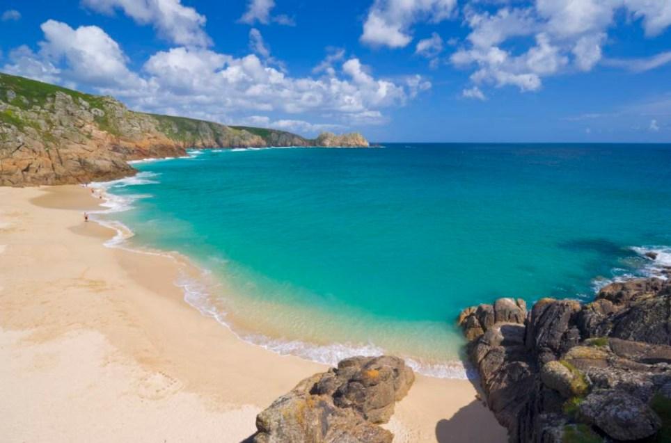 Porthcurno beach, Cornwall, England, United Kingdom, Europe