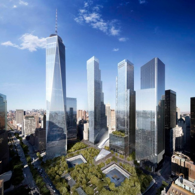PIC FROM DBOX / CATERS NEWS - PICTURED: An architect has revealed the design for the fourth and final tower at the World Trade Center. Danish architect Bjarke Ingels plans show 2 World Trade Center will be 80 stories and appear as seven separate boxes stacked together. At 1330ft it will be shorter than One World Trade Center but will still become the third tallest building in New York City. The tower is scheduled to open in 2020.