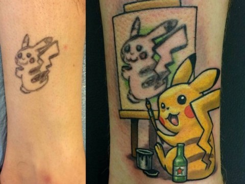 This dodgy Pokemon tattoo has been transformed into a work of art