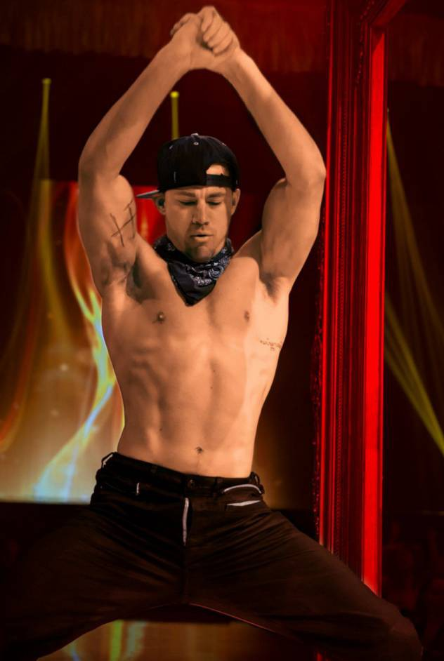 Channing Tatum gives lucky girl a lap dance as he takes to the stage at Caesars Palace strip show