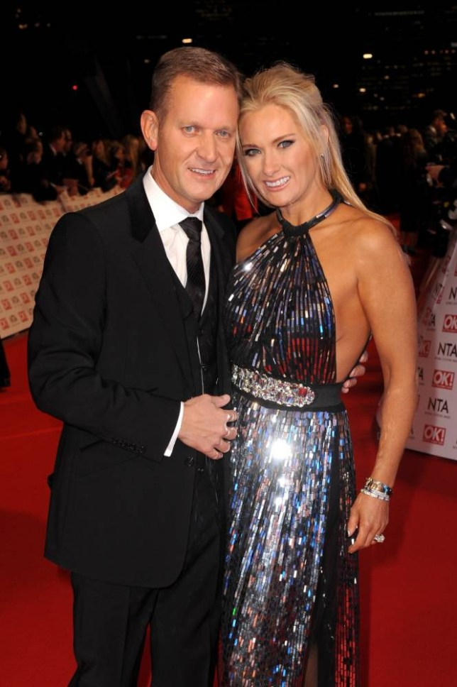 LONDON, ENGLAND - JANUARY 21:  Jeremy Kyle (L) and Carla Germaine attend the National Television Awards at 02 Arena on January 21, 2015 in London, England.  (Photo by Dave J Hogan/Getty Images)