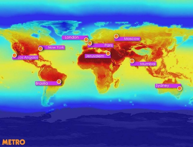 New York Subway Map 2100.Nasa Maps Show That The World Is Going To Be Really Really Hot By
