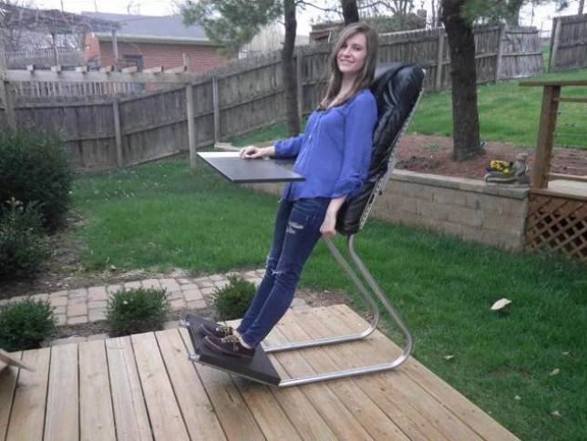 LeanChair   https://www.kickstarter.com/projects/1133385494/leanchair-the-portable-reclining-standing-desk