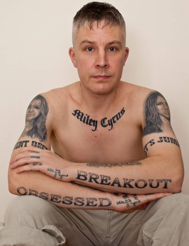 Carl McCoid has vowed to get his tattoos removed after being branded creepy by Miley Cyrus