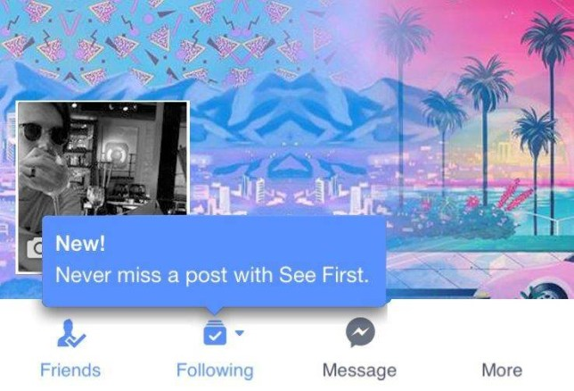 Facebook's new 'see first' feature lets you decide what appears in your feed Source: FACEBOOK