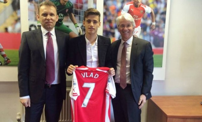 Arsenal sign Romanian wonderkid Vlad Dragomir