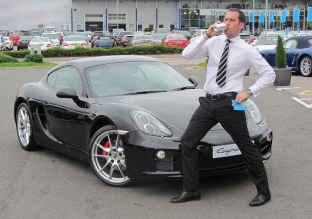 Facebook picture of Adam Hill.  A high-flying Porsche sales manager stressed about losing his job left two teenage girls with life changing injuries after he drove down the wrong side of the road and crashed head first into their car, a court has been told.  See NTI story NTIPORSCHE.  Adam Hill (35), faces jail after being found guilty of two counts of causing serious injury by dangerous driving on the A46 near Market Rasen, Lincs on December 18, 2013.  Best friends Beth Tyson and Kate Hunter, both then 18, had just left a field off the A46 after tending to horses when the crash occurred.  Hill who had just got engaged, had been heading home from Lincoln in his Audi A6, but was distracted.  He had just lost his job at a Sheffield Porsche dealership after being accused of theft.  The court was told that driver Beth saw lights coming towards her Fiesta and seconds later the crash happened - before she had any time to react.  Hill will be sentenced on July 20, 2015.