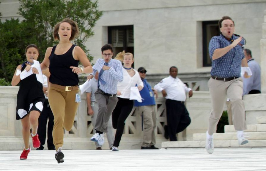 The 'Running of the Interns' is the weirdest and funniest tradition you've never heard of