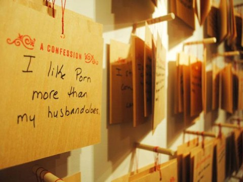 'I like porn more than my husband' People are confessing their darkest secret for this art project