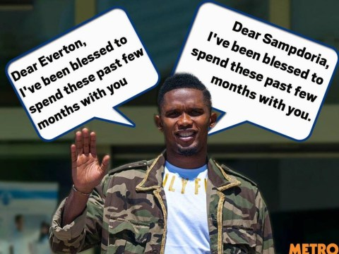 Samuel Eto'o's farewell letters to Sampdoria and Everton are very, very similar
