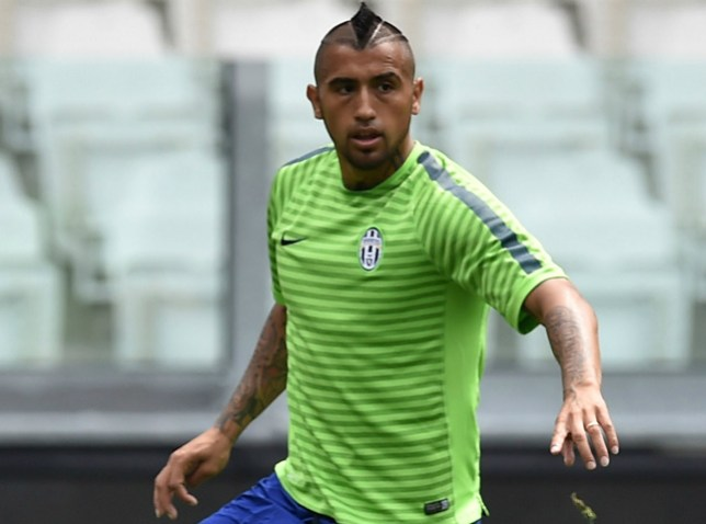 TURIN, ITALY - JUNE 01:  Arturo Vidal of Juventus FC in action during the Juventus Media Day at Juventus Arena on June 1, 2015 in Turin, Italy.  (Photo by Valerio Pennicino/Getty Images)