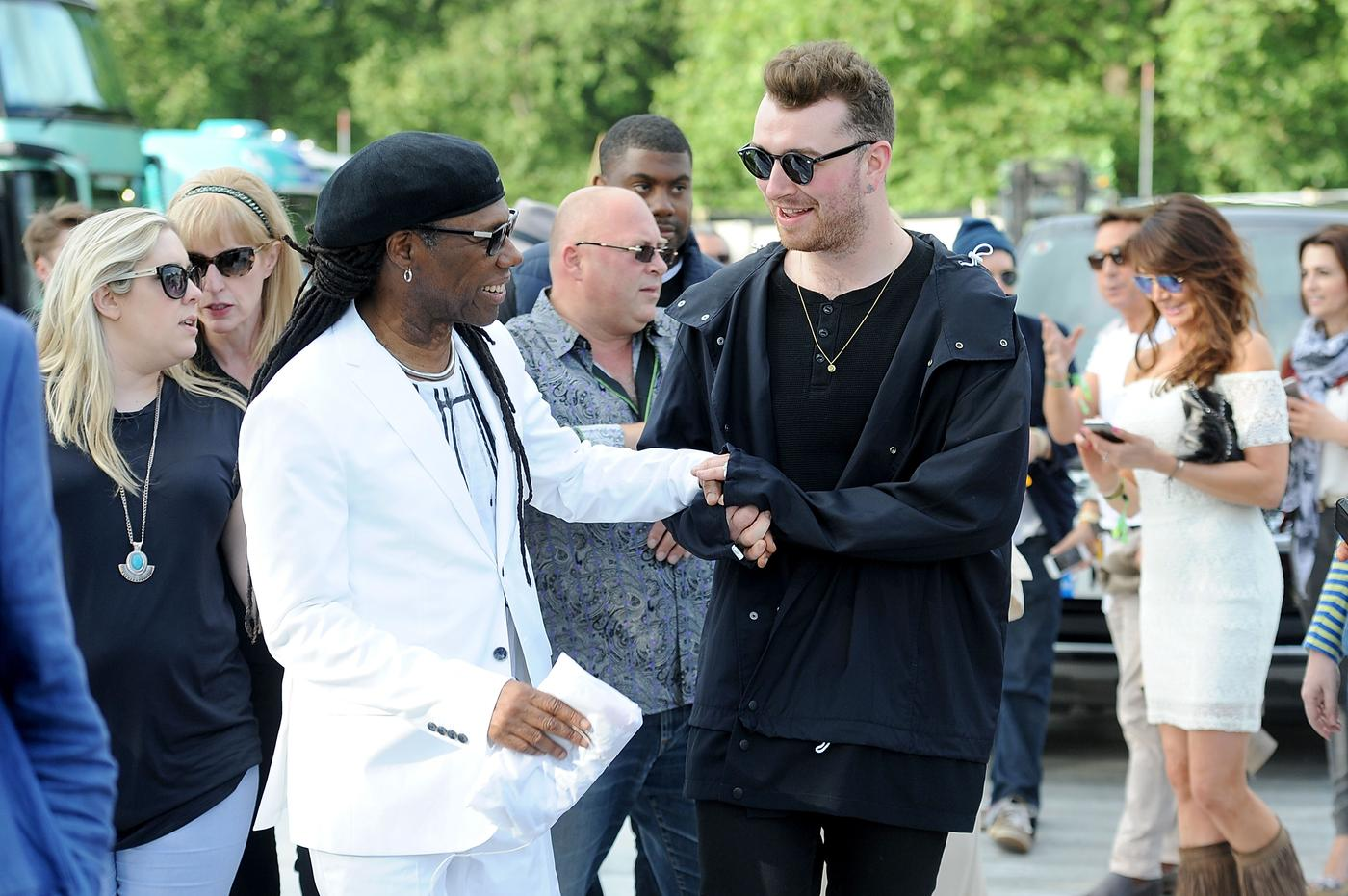 British Summer Time 2015 in Hyde Park: Sam Smith with Nile Rodgers