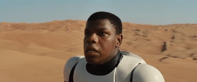 Star Wars episode 7, The Force Awakens, John Boyega as Finn