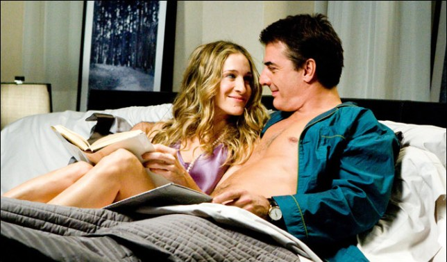 carrie and big in bed