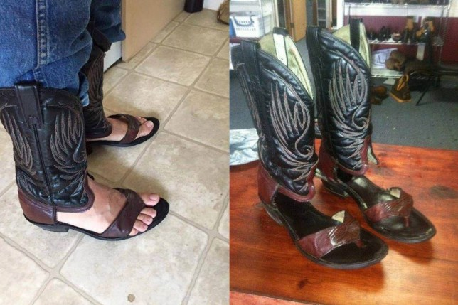 5f06df974904 Cowboy boot sandals  finally answering the question of what cowboys ...