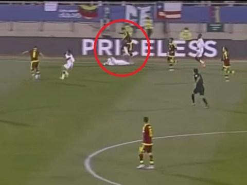 Fulham defender Fernando Amorebieta sent off for horror stamp during Venezuela v Peru Copa America clash