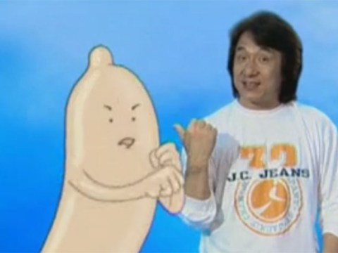Yes everybody, Jackie Chan did once do a Public Service Announcement starring an animated condom