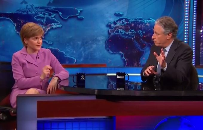 Nicola Sturgeon on the Daily Show with Jon Stewart (Picture: Comedy Central)