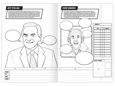 Football pundit colouring book released including ex-Liverpool, Tottenham and Newcastle stars. Oh, and… Des Lynam in the nude