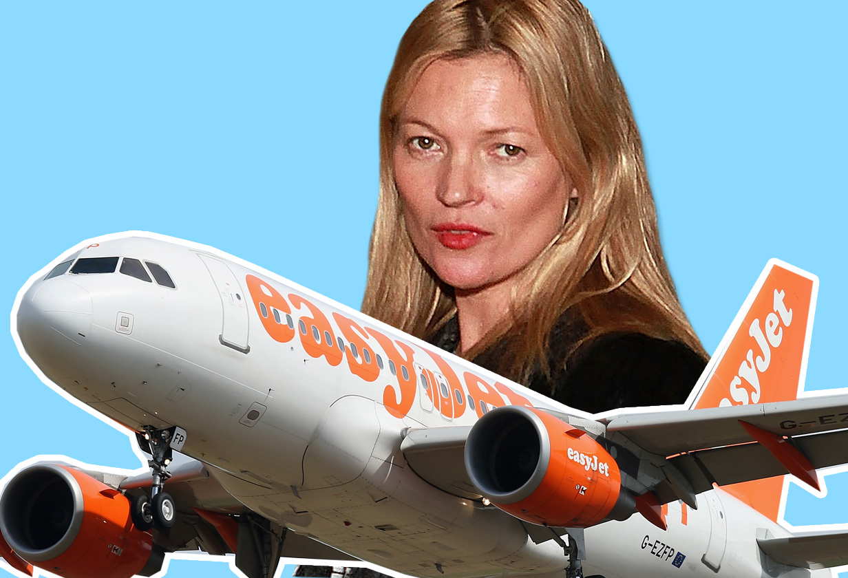 People are more shocked Kate Moss flies with Easyjet than the fact she was 'escorted off the plane by police'