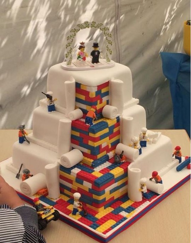 Cupcakes By SJs Absolutely Awesome Lego Wedding Cake Is Worth