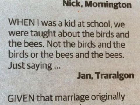Homophobic letter writer has got his analogies all confused