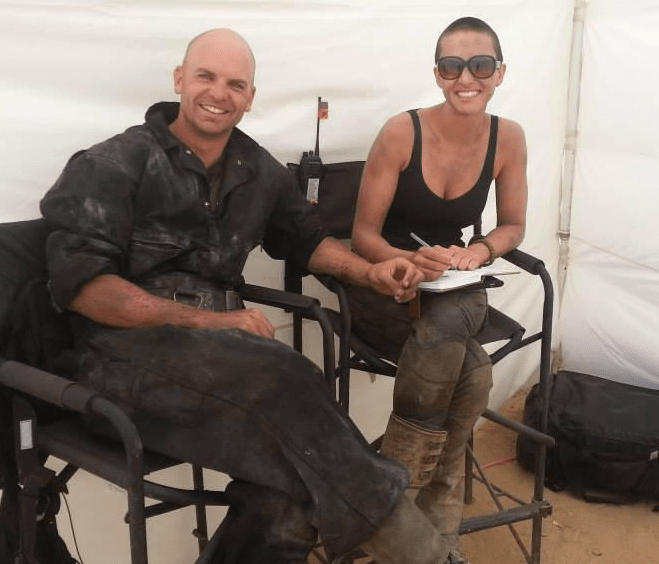 Dane and Dayna Grant on the Mad MAx: Fury Road (Picture: Twitter)