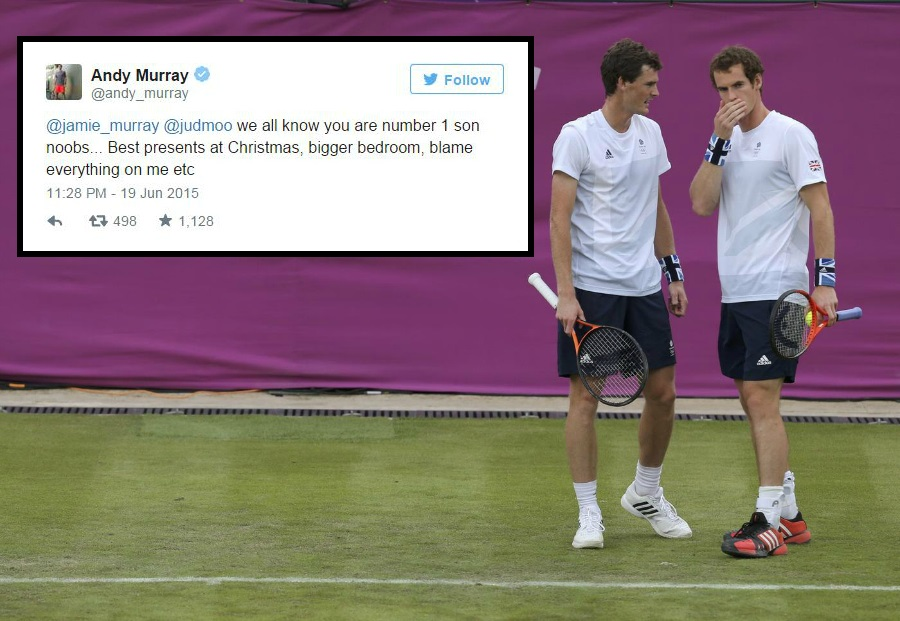 Andy Murray's mum calls him 'the special one' on Twitter, brother Jamie starts family favoritism row