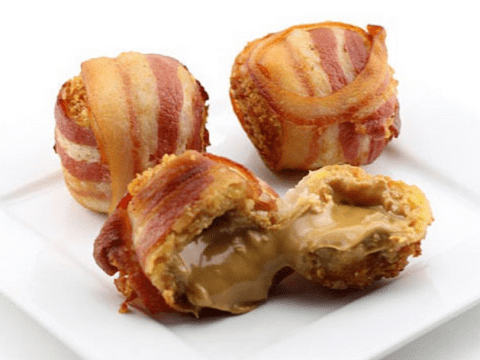 Deep fried peanut butter balls wrapped in bacon, WTF?