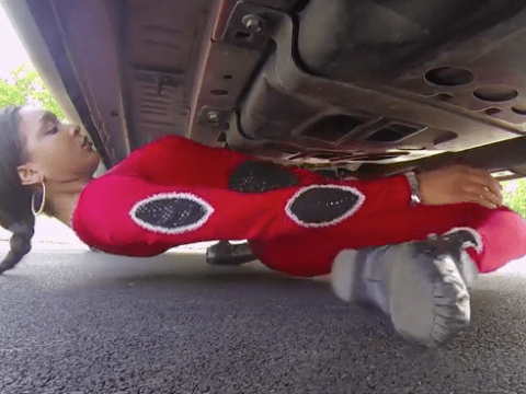 This woman just limboed underneath a car (and broke another world record)