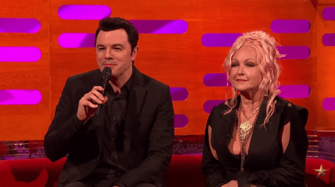 Watch Seth MacFarlane sing Cyndi Lauper's greatest hits using Family Guy voices