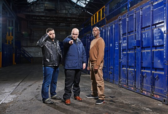 Storage Hunters UK - Picture shows: [L-R] Jesse, Sean Kelly, T-Money