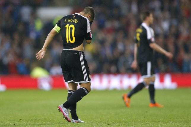 SOC: Belgium's Eden Hazard looks dejected Carl Recine/Reuters