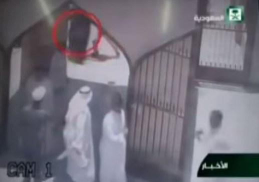 The bomber can be seen disguised as a woman (Picture: Instagram/YouTube)