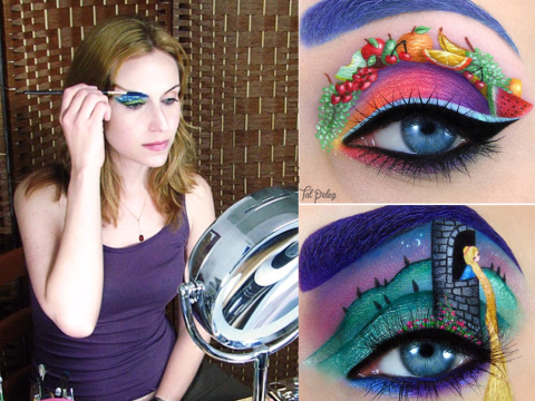 This woman creates beautiful works of art… on her eyelids