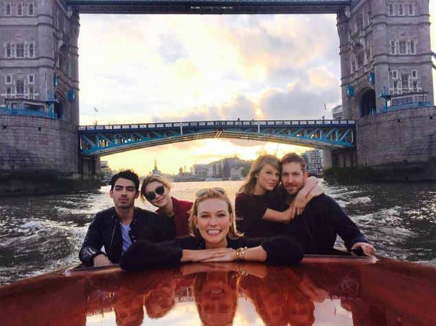 All aboard the love boat! Taylor Swift and Calvin Harris hang out with Taylor's ex and his new beau