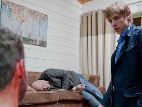 10 soap spoiler pictures: Emmerdale Robert Sugden gun horror and Coronation Street domestic violence
