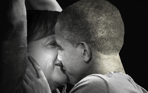 Someone has photoshopped Obama and Merkel into movie posters and it's creepy as hell