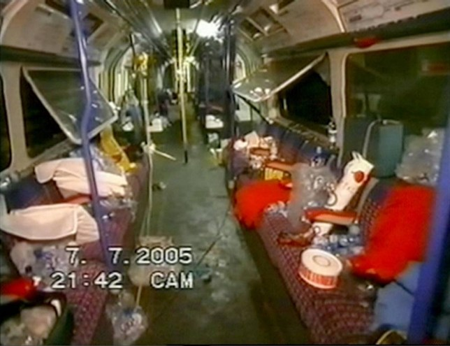 Screen grab dated 7/7/05, from newly released video footage taken by emergency services of the scene onboard a train between King's Cross and Russell Square tube stations in London, after a bomb blast during the July 7 attacks. PRESS ASSOCIATION Photo. Issue date: Monday November 29, 2010. The 7/7 inquests will turn their focus today to the deadliest of the four attacks on London's public transport network. Twenty-six people died when teenage suicide bomber Jermaine Lindsay blew himself up on a Piccadilly line Tube train between King's Cross and Russell Square stations on July 7, 2005. See PA story INQUEST July 7. Photo credit should read: July 7 Inquests/PA Wire