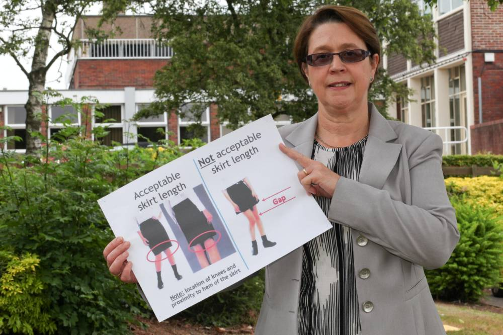 Staffordshire school bans girls from wearing skirts because it's 'distracting' for staff and students