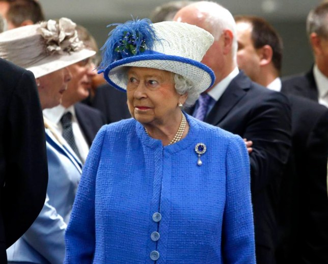 Queen Elizabeth II during a tour of Strathclyde University's Technology and Innovation Centre, moments before Britain remembered the victims of the Tunisia terror attack with a minute's silence. PRESS ASSOCIATION Photo. Picture date: Friday July 3, 2015. See PA story POLICE Tunisia. Photo credit should read: Danny Lawson/PA Wire